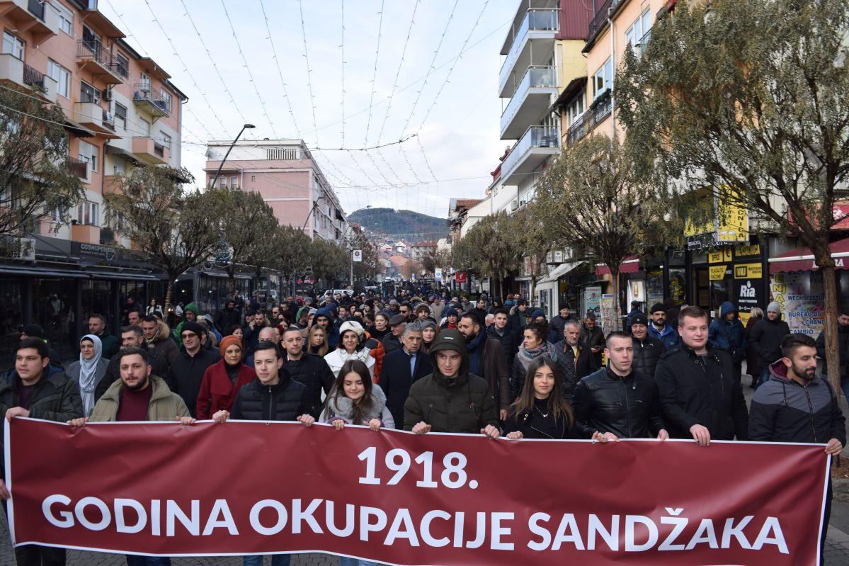 """ODRŽANA PROTESTNA ŠETNJA """"1918.- GODINA OKUPACIJE SANDŽAKA"""""""