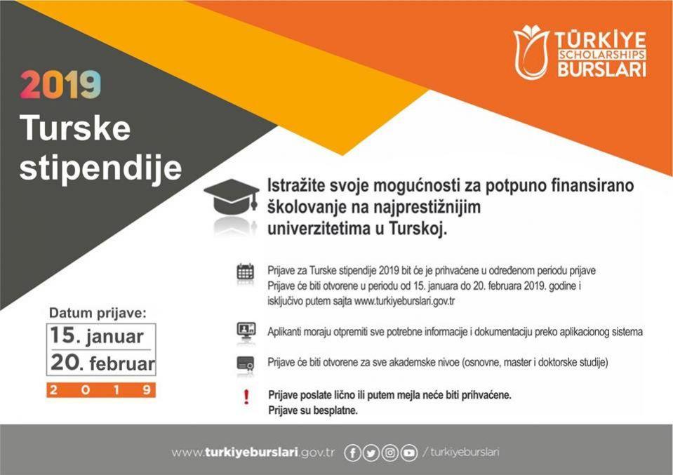 Konkurs za Turske stipendije traje do 20. februara