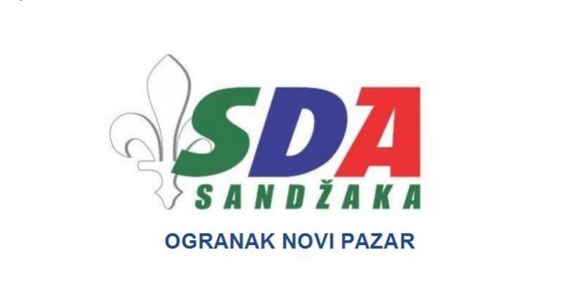 Saopštenje za javnost SDA Sandžaka, ogranak Novi Pazar