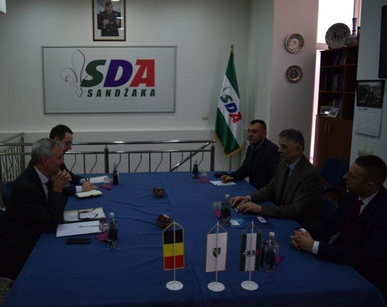 Ambasador Belgije posjetio SDA Sandžaka